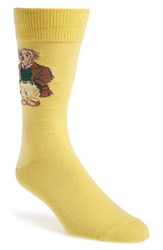 Men's Polo Ralph Lauren 'Brown Coat Bear' Socks