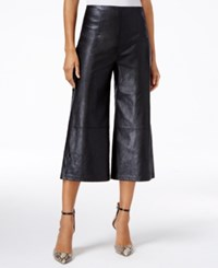 Guess Denise High Rise Faux Leather Culottes Jet Black