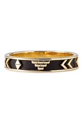 House Of Harlow 1960 'Aztec' Bangle Black Gold