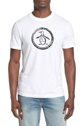 Men's Original Penguin Distressed Logo T Shirt Bright White