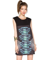 Graphic Print Dress Black Day Dress Mirrored Prints 66