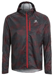 Salomon Fast Wing Sports Jacket Black Briquex Dark Cloud