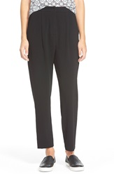 Lily White High Rise Trousers Juniors 6740B Black
