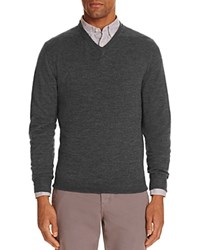 Bloomingdale's The Men's Store At Merino Wool V Neck Sweater Compare At 88 Gray