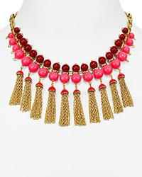 Kate Spade New York That's A Wrap Tassel Statement Necklace 16 Pink Multi