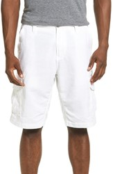 Men's Union 'Adventurous' Linen And Cotton Cargo Shorts White