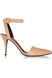 Alexander Wang Lovisa Textured Leather Pumps Orange