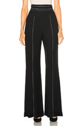Wes Gordon High Waisted Pant In Black