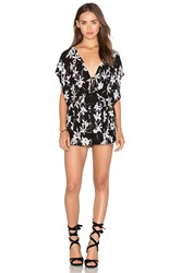 Lost In Lunar Flower Child Romper Black