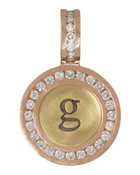 14K Yellow Rose Gold Single Lowercase Initial Charm With Diamonds Heather Moore