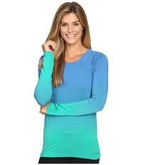 Brooks Streaker Long Sleeve Top Parque Wave Women's Long Sleeve Pullover Blue