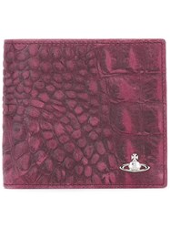 Vivienne Westwood Croc Effect Wallet Pink And Purple