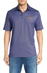 Tommy Bahama Men's 'Nfl Double Eagle Spectator' Bird's Eye Polo Chargers