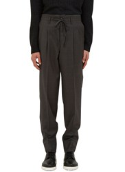 Ermenegildo Zegna Oversized Patterned Suiting Pants Grey