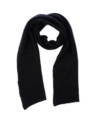 People Accessories Oblong Scarves Men Black