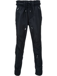 The Soloist Zip Panel Detail Tapered Trousers Black