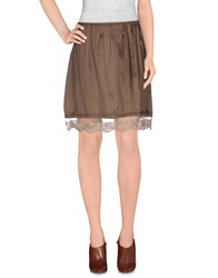 Erika Cavallini Semi Couture Erika Cavallini Semicouture Knee Length Skirts Khaki