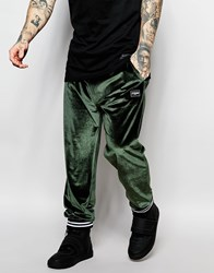 Jaded London Velour Joggers Green