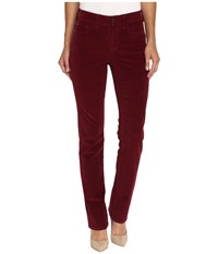 Nydj Marilyn Straight Jeans In Corduroy Antique Ruby Women's Jeans Red