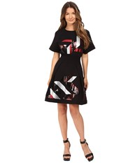 Just Cavalli Geo Sequin Sweatshirt Dress Black Women's Dress