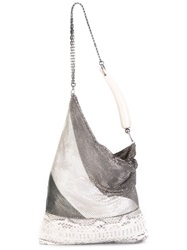 Laura B Metallic Shoulder Bag