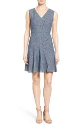 Elie Tahari Women's 'Elliot' Floral Jacquard Fit And Flare Dress