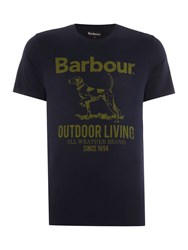 Barbour Outdoor Dog Crew Neck Tee Navy
