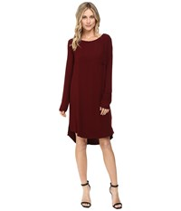 Three Dots Kennedy Long Sleeve Shirtdress Malbec Women's Dress Purple