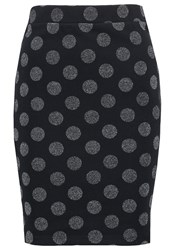 Vila Vifellow Mini Skirt Total Eclipse Dark Blue