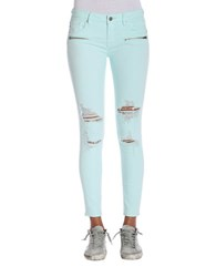 Vigoss Jagger Destructed Zip Skinny Mint