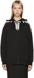 Marcelo Burlon Black Zip Up Callen Hoodie