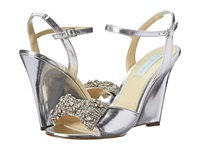 Blue By Betsey Johnson Dress Silver Metallic Women's Wedge Shoes