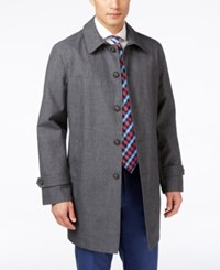 Tommy Hilfiger Men's Finn Grey Sharkskin Raincoat