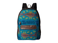 Pendleton Canvas Backpack Diamond River Turquoise Backpack Bags Blue