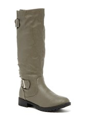 Carrini Back Lace Up Boot Gray