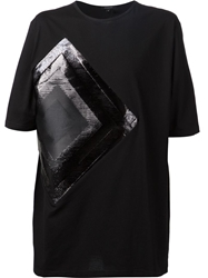 Unconditional Contrasting Rhombus Patch T Shirt Black
