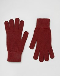 Selected Homme Gloves Leth Red