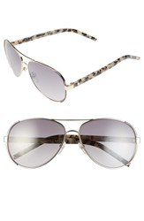 Women's Marc Jacobs 60Mm Oversize Aviator Sunglasses Gold Dark Ruthenium