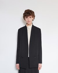 Christophe Lemaire Double Breasted Jacket Black