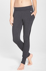 Alo Yoga 'Yen' Mesh Inset Ribbed Sweatpants Black