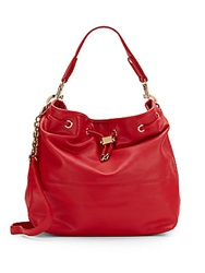 Deux Lux Ally Faux Leather Hobo Bag Red