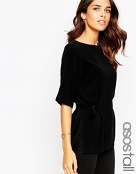Asos Tall Double D Ring T Shirt Black