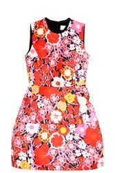 Victoria Beckham Structured Flower Print Dress Multi