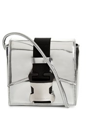 Christopher Kane Bonnie Mini Leather Cross Body Bag Silver