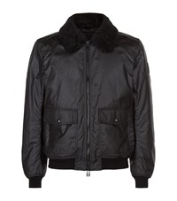 Belstaff Mortimer Shearling Collar Bomber Jacket Male Black