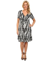Poppy And Bloom Plus Size Working Through Lunch Dress Black White Print Women's Dress Animal Print
