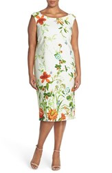 Plus Size Women's Gabby Skye Floral Print Scuba Sheath Dress