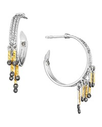 Spring Tricolor Hoop Earrings With Diamonds Coomi Multicolored