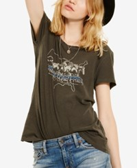 Denim And Supply Ralph Lauren Draped Graphic T Shirt Black