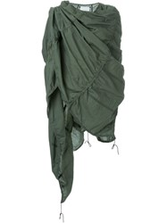 Toogood Quilted Oversized Scarf Green